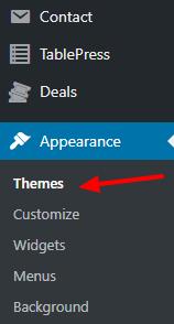 wordpress themes dashboard
